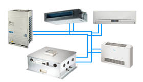 Commercial air-conditioners.Freon. Indoor VRF. Evaporators