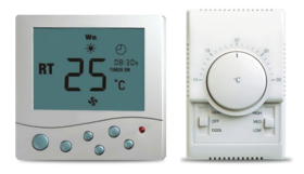 Commercial air-conditioners. Hydronic systems. Fan coil. Controllers