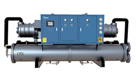 Commercial air-conditioners. Hydronic systems. Industial liquid. Screw compressor