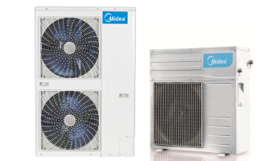 Outdoor units of a split-type heat pumps with an air heat extraction